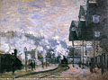 Claude Monet (1840-1926) - Saint-Lazare Station, the Western Region Goods Sheds (1877)