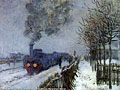 Claude Monet (1840-1926) - Train in the Snow (1875)