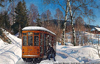 Un treno dentro il quadro! - Peder Mørk Mønsted (1859-1941)