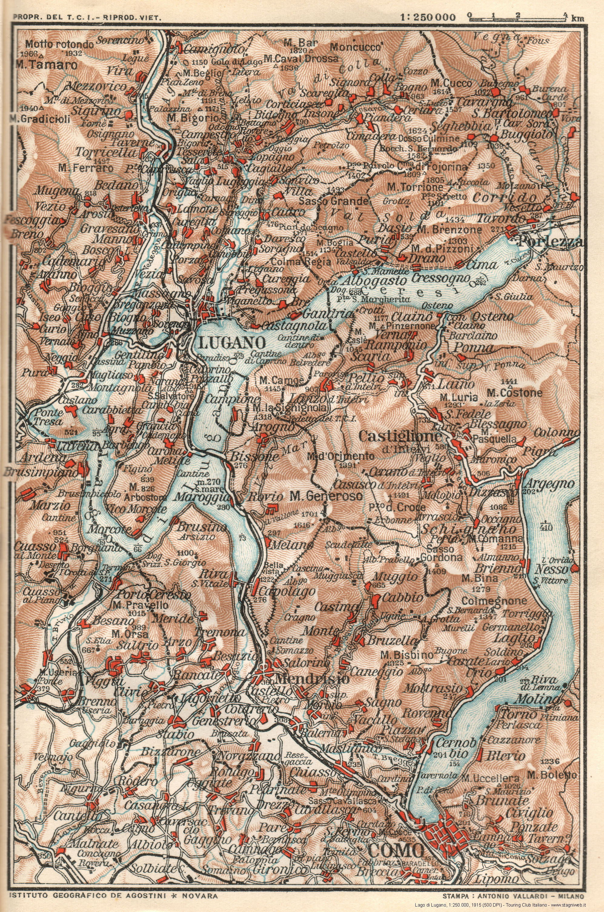 Cartina D Italia 1915.Carte E Guide Del Touring Club Italiano Nel Xx Secolo Stagniweb