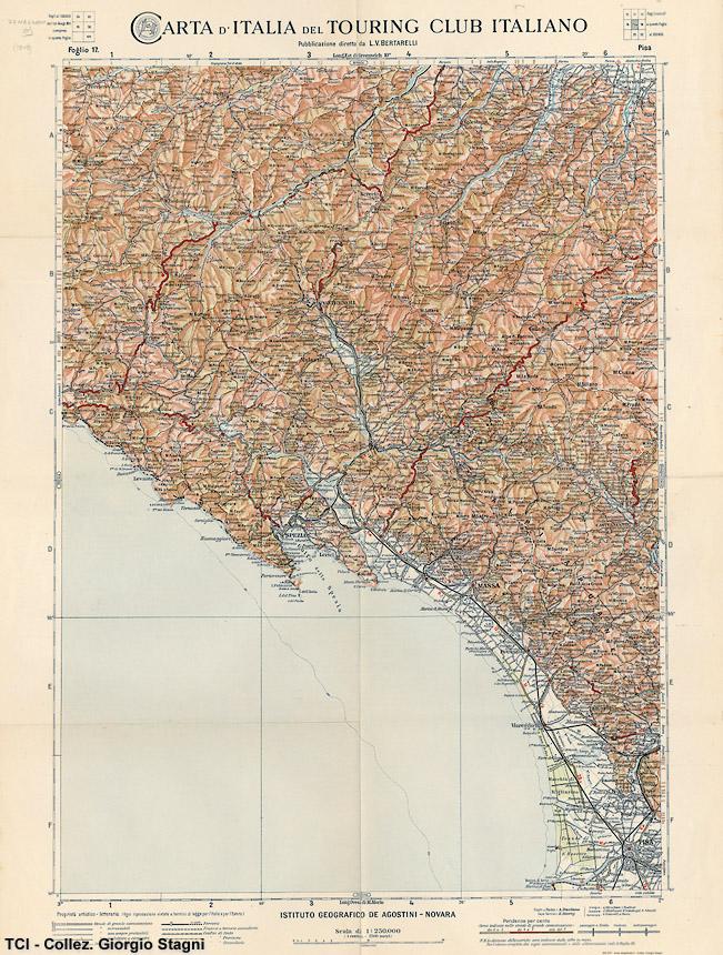Cartina Italia Nel 400.Carte E Guide Del Touring Club Italiano Nel Xx Secolo 6 Stagniweb