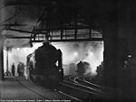 Decline of Steam, by Colin T. Gifford - Crew change at Newcastle Central.
