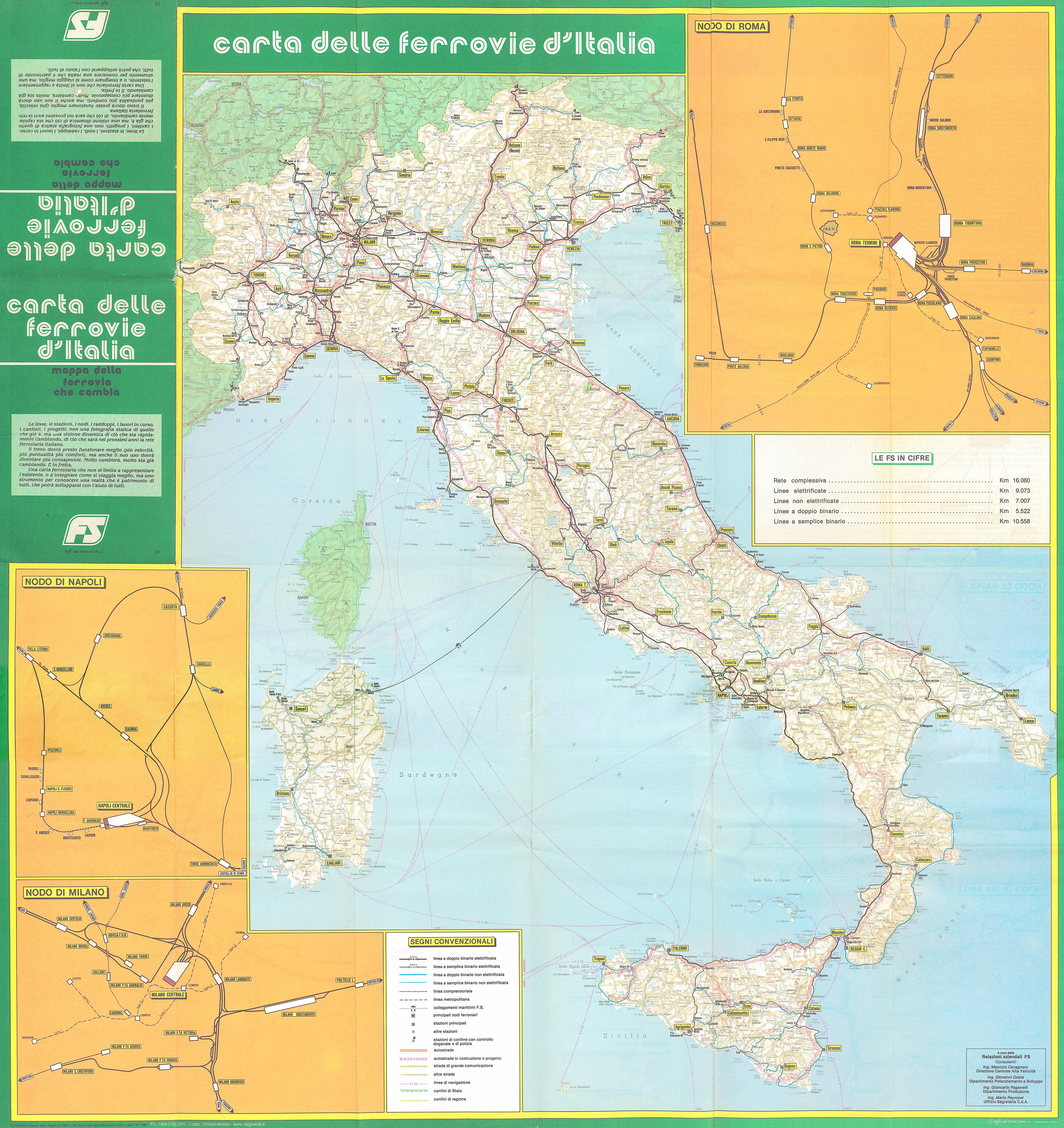 Cartina Italia Con Legenda.Altre Carte Ferroviarie Stagniweb