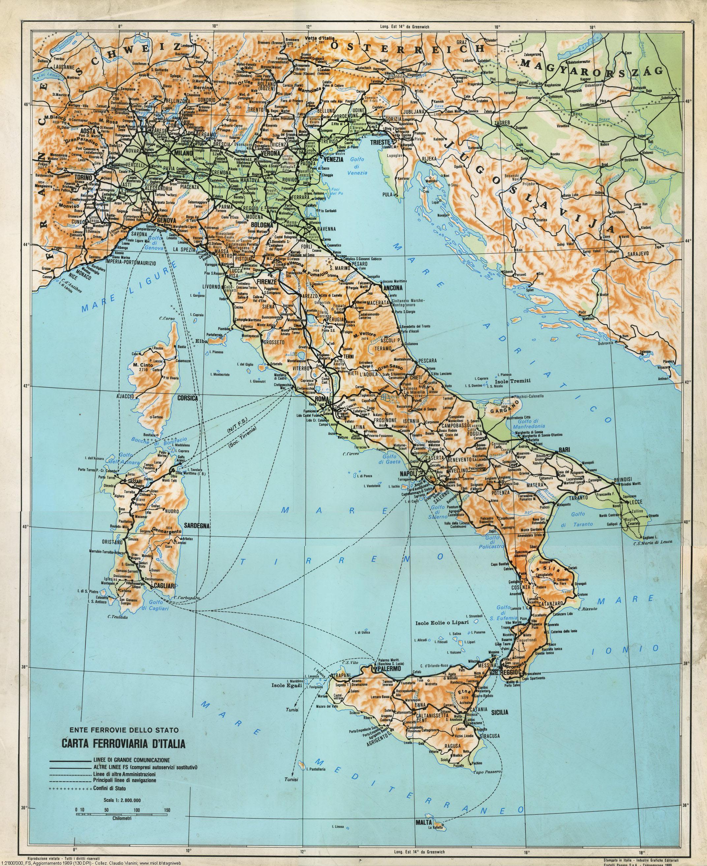 Cartina D Italia 1940.Altre Carte Ferroviarie Stagniweb