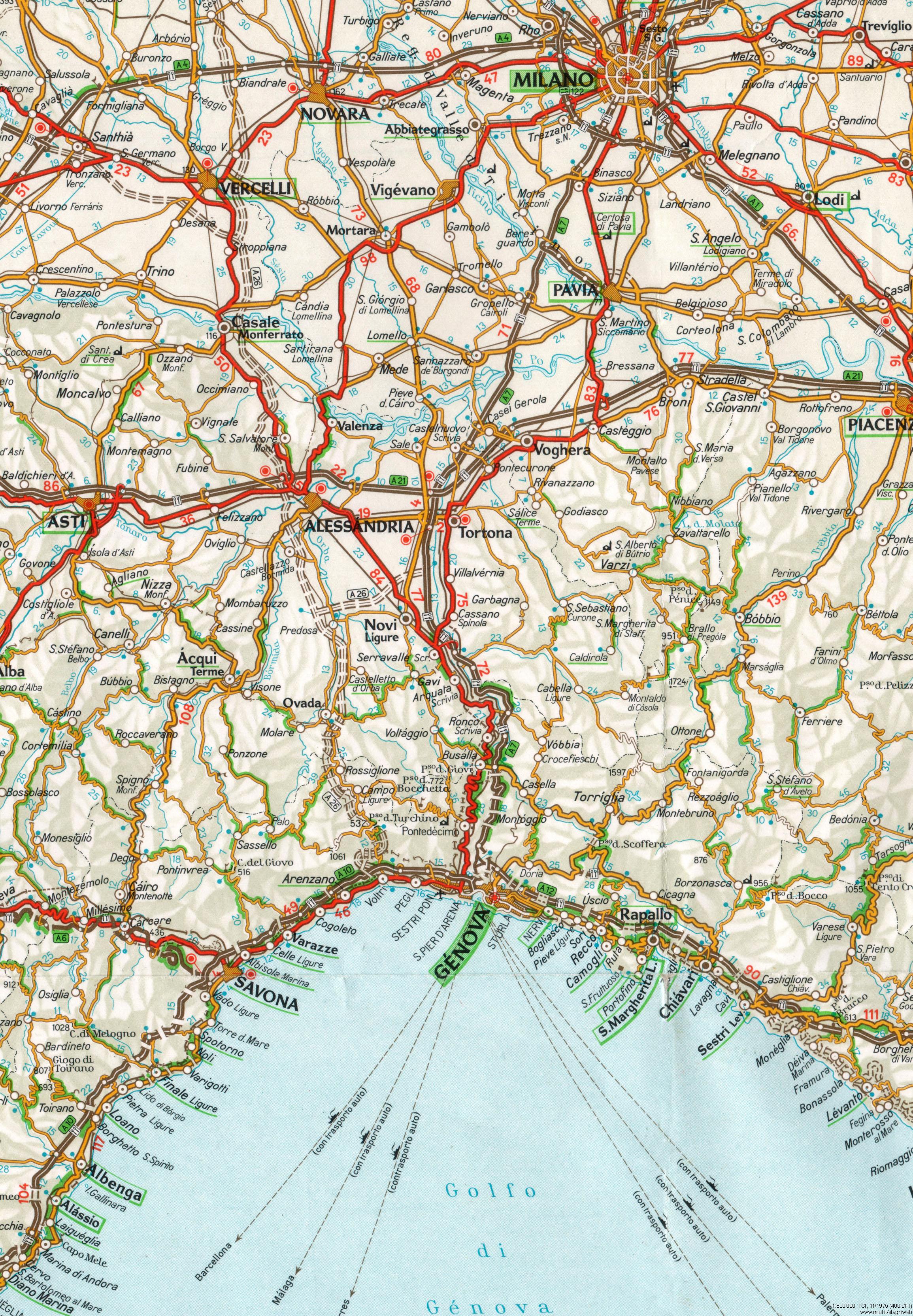 Cartina Turistica Liguria.Mappe Storiche Piemonte Liguria E Lombardia 12 Stagniweb