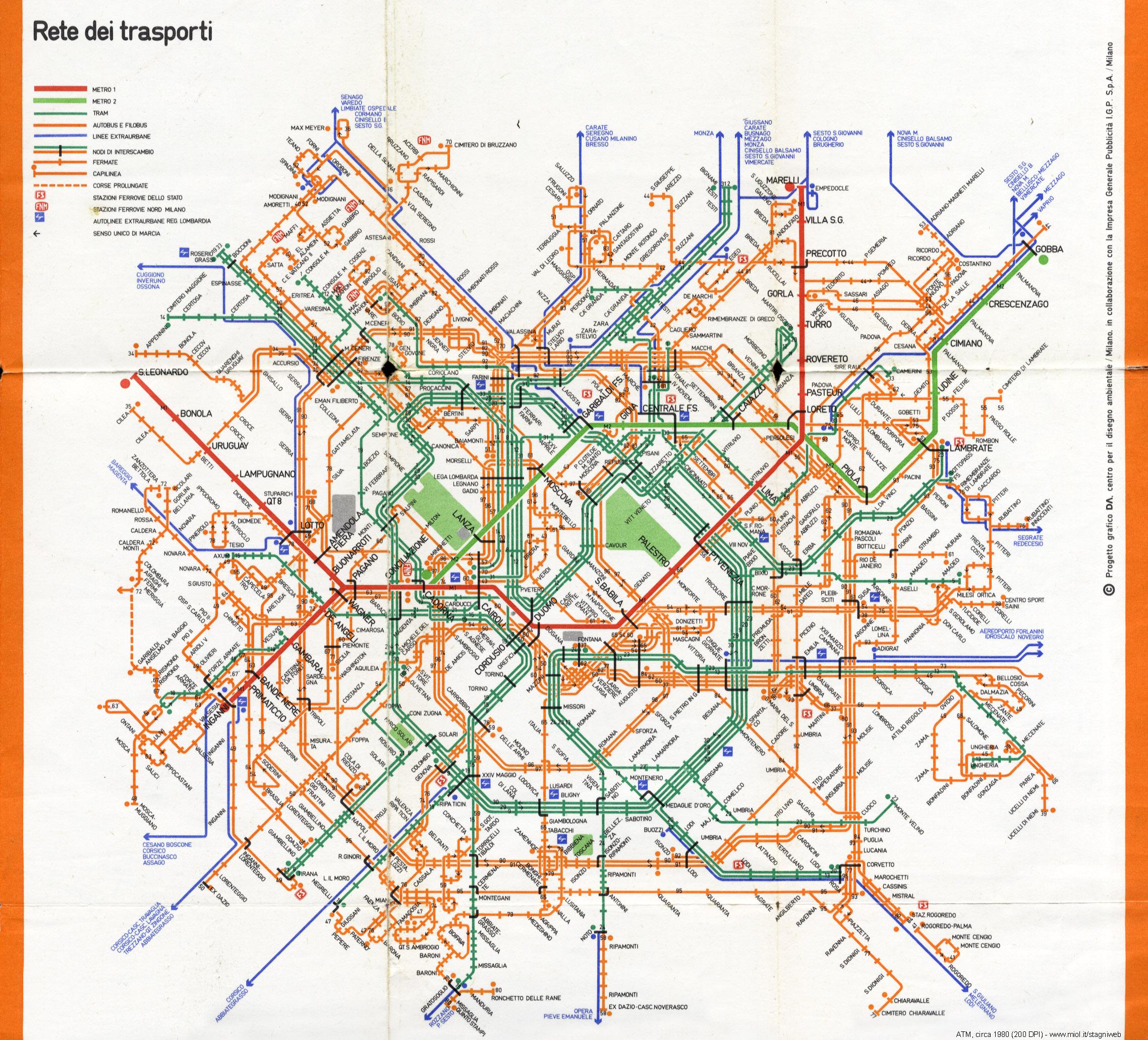Cartina Milano Con Metro.Tram A Milano 1914 1982 Stagniweb