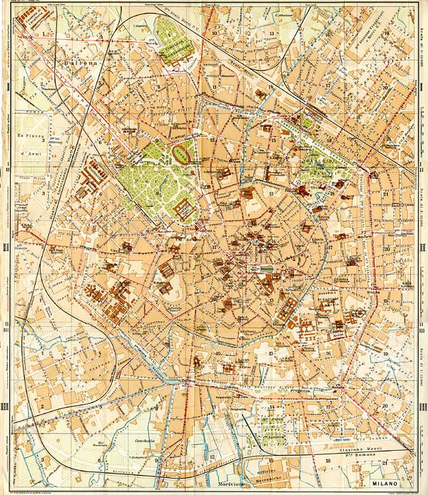 Cartina Milano 800.Tram A Milano 1914 1982 Stagniweb