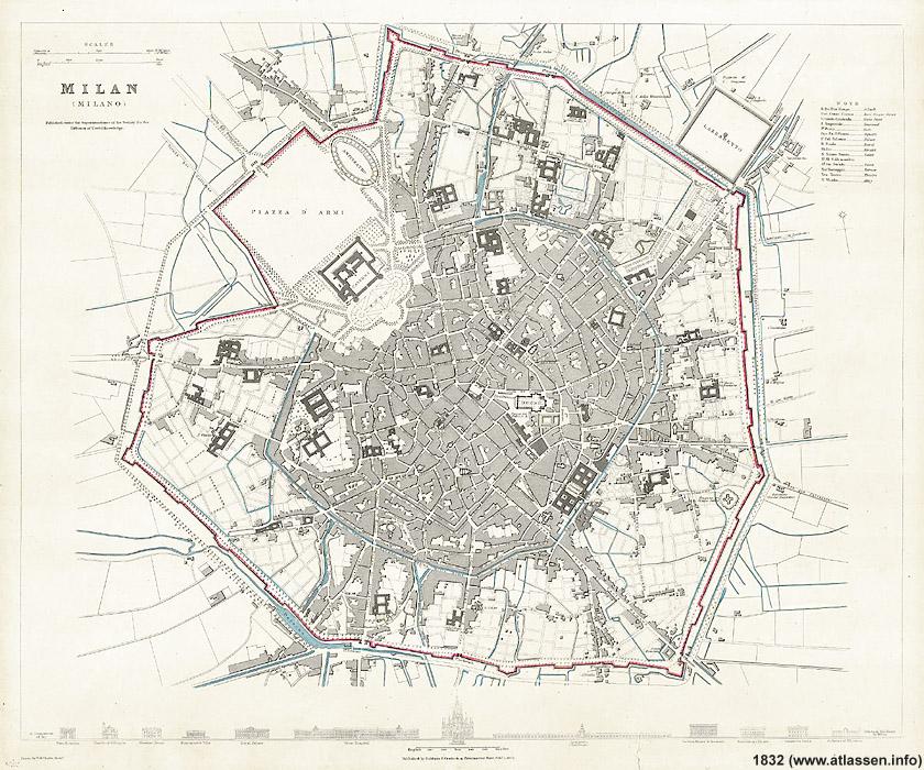 Cartina Milano 800.Milano 1832 1947 La Citta Che Sale Stagniweb