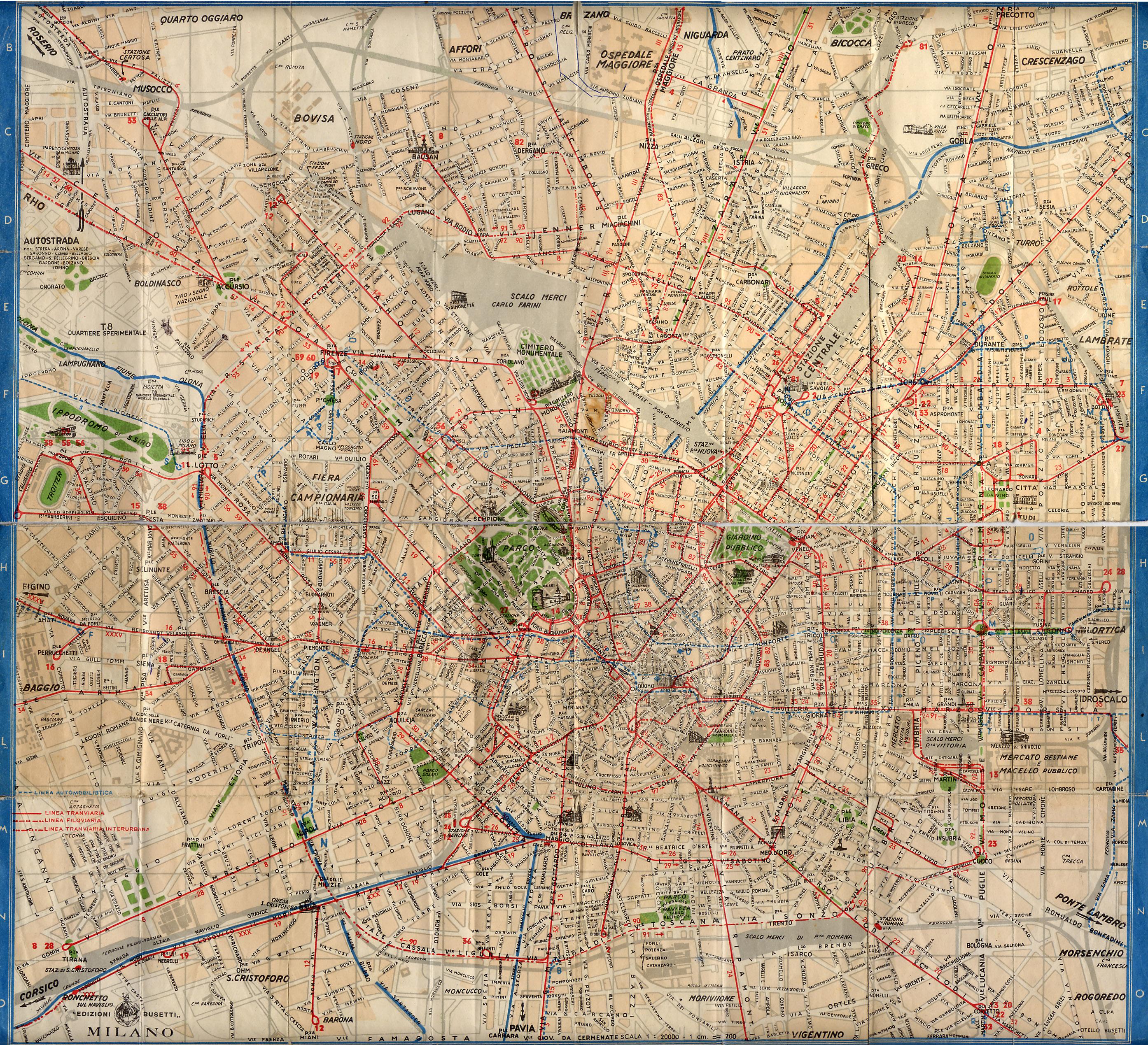 Cartina Milano 800.Mappe Storiche