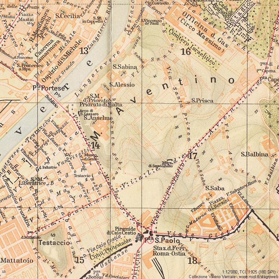 Cartina Dettagliata Roma.Mappe Storiche Di Roma Guida Rossa Tci 1925 Prima Edizione Stagniweb