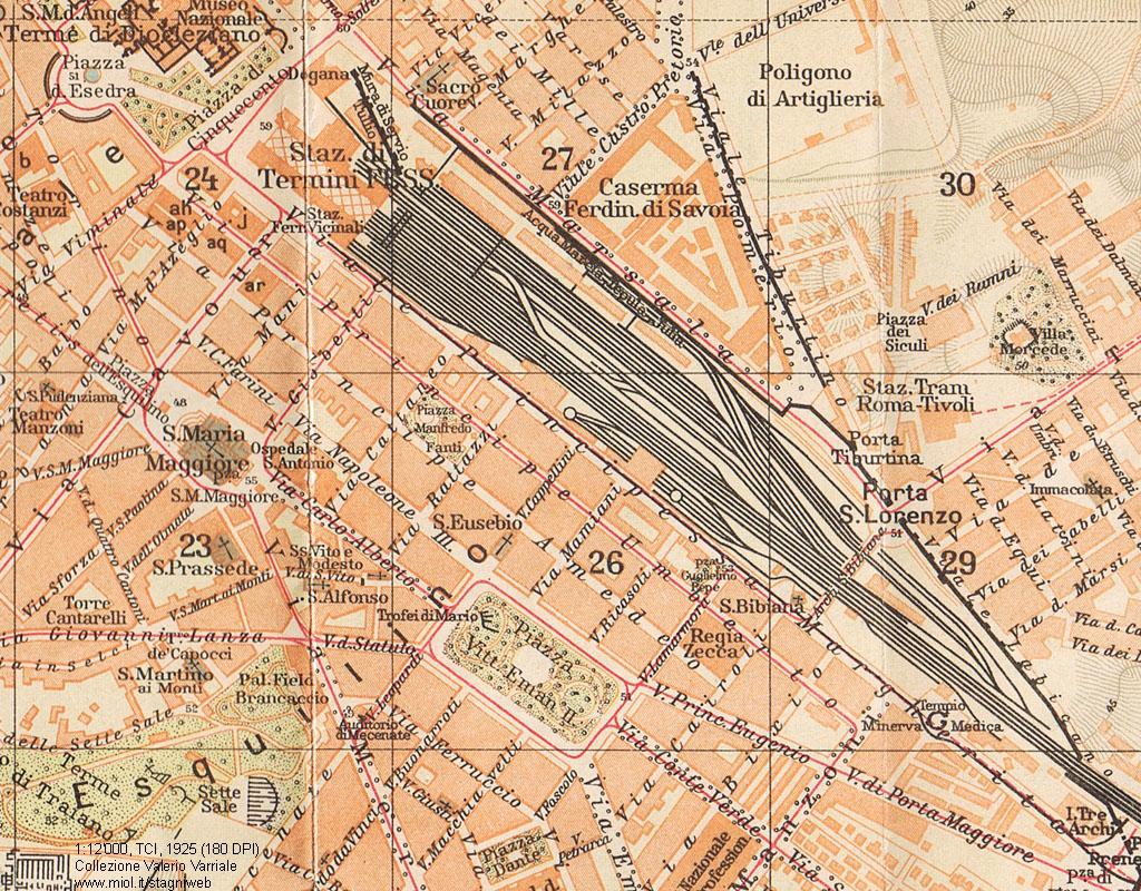 Cartina Stazioni Ferroviarie Roma.Mappe Storiche Di Roma Guida Rossa Tci 1925 Prima Edizione 8 Stagniweb