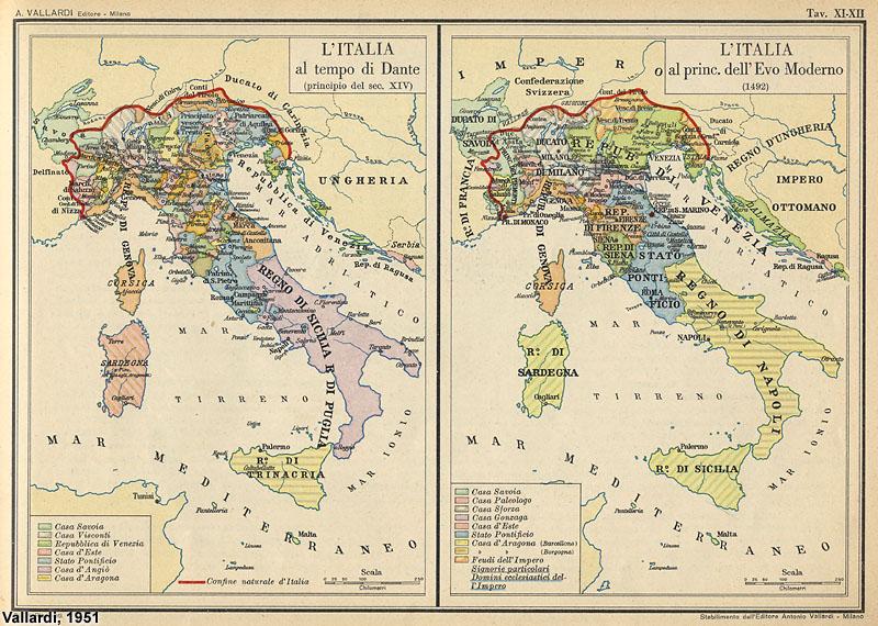 Cartina Italia 1810.Atlante Storico Vallardi 1951 3 Stagniweb